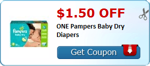 $1.50 off ONE Pampers Baby Dry Diapers