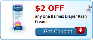 $2.00 off any one Balmex Diaper Rash Cream