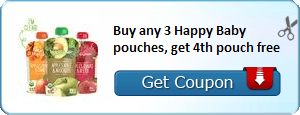 Buy any 3 Happy Baby pouches, get 4th pouch free