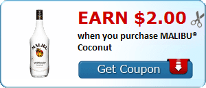 Earn $2.00 when you purchase MALIBU® Coconut
