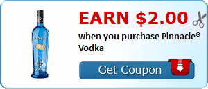 Earn $2.00 when you purchase Pinnacle® Vodka