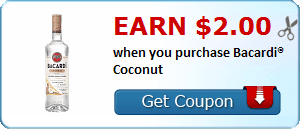 Earn $2.00 when you purchase Bacardi® Coconut