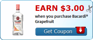 Earn $3.00 when you purchase Bacardi® Grapefruit