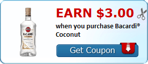 Earn $3.00 when you purchase Bacardi® Coconut