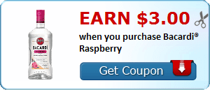 Earn $3.00 when you purchase Bacardi® Raspberry