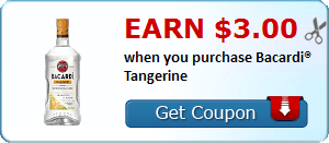 Earn $3.00 when you purchase Bacardi® Tangerine