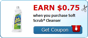 Earn $0.75 when you purchase Soft Scrub® Cleanser