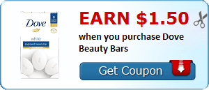 Earn $1.50 when you purchase Dove Beauty Bars