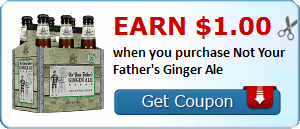 Earn $1.00 when you purchase Not Your Father's Ginger Ale