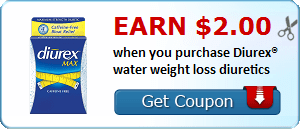 Earn $2.00 when you purchase Diurex® water weight loss diuretics