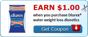 Earn $1.00 when you purchase Diurex® water weight loss diuretics