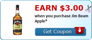 Earn $3.00 when you purchase Jim Beam Apple®