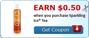 Earn $0.50 when you purchase Sparkling Ice® Tea