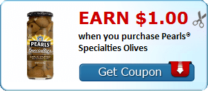 Earn $1.00 when you purchase Pearls® Specialties Olives