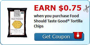 Earn $0.75 when you purchase Food Should Taste Good® Tortilla Chips