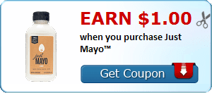 Earn $1.00 when you purchase Just Mayo™
