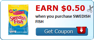 Earn $0.50 when you purchase SWEDISH FISH