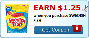 Earn $1.25 when you purchase SWEDISH FISH