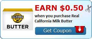 Earn $0.50 when you purchase Real California Milk Butter