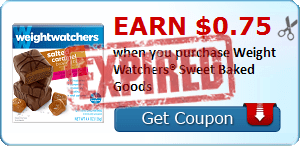 Earn $0.75 when you purchase Weight Watchers® Sweet Baked Goods