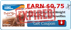 Earn $0.75 when you purchase Weight Watchers® Frozen Novelties