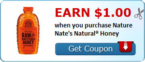 Earn $1.00 when you purchase Nature Nate's Natural® Honey