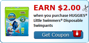 Earn $2.00 when you purchase HUGGIES® Little Swimmers® Disposable Swimpants