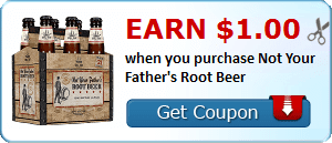 Earn $1.00 when you purchase Not Your Father's Root Beer