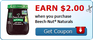 Earn $2.00 when you purchase Beech-Nut® Naturals