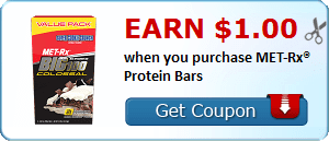 Earn $1.00 when you purchase MET-Rx® Protein Bars