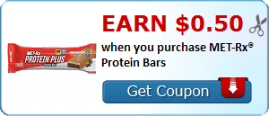 Earn $0.50 when you purchase MET-Rx® Protein Bars