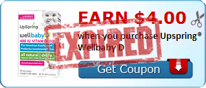 Earn $4.00 when you purchase Upspring® Wellbaby D