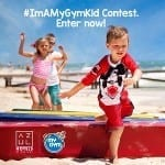 #ImAMyGymKid Contest How to enter with town kids playing at the beach