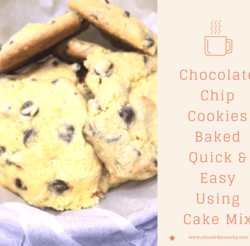 Quick Chocolate Chip Cookies from Cake Mix