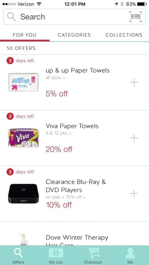Cartwheel app info graphic with ways to save