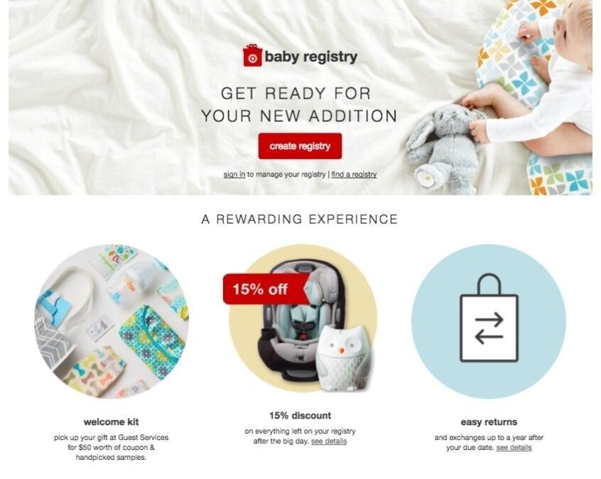 Target baby registry ad