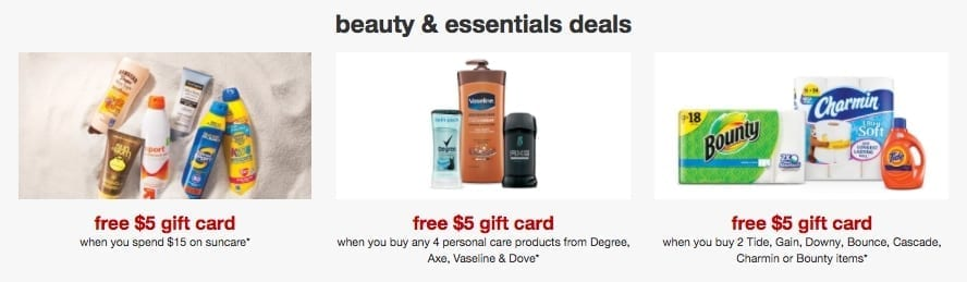 Target sales ad for beauty products