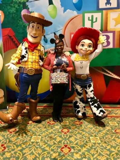 Blogger Janelle Robinson and ToyStoryLand