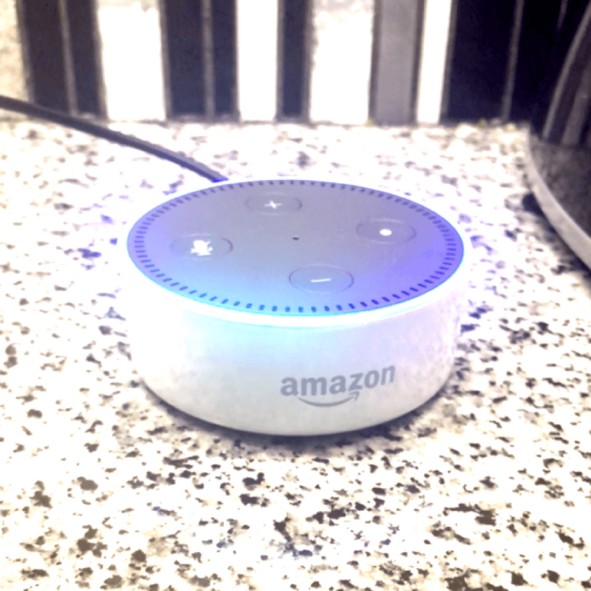 Amazon Echo Dot in Kitchen
