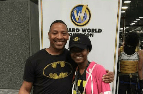 Dad and Daughter at Comic Con from abreak4mommy.com