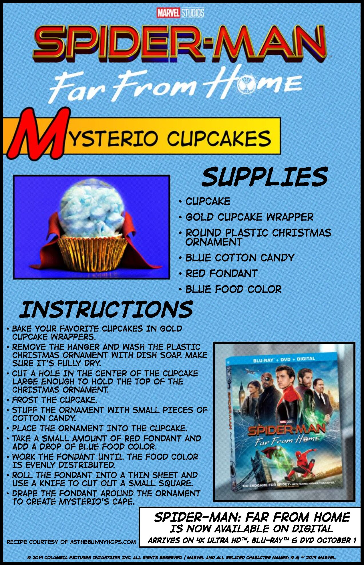 Spider-man Far from home Mysterio cupcake