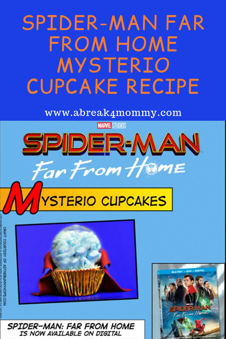 Spider-man far from home myserio cupcake recipe