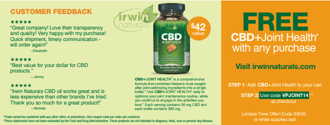 Benefits of CBD With Irwin Naturals For FREE