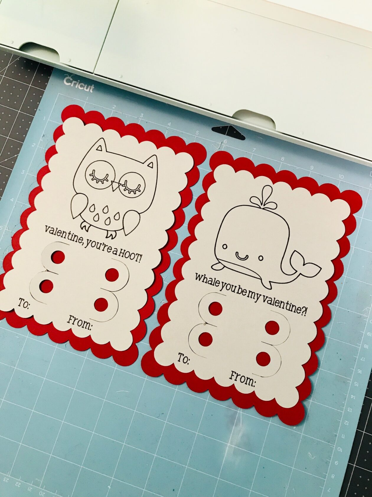 Cricut Valentine's Day Cards For Kids2