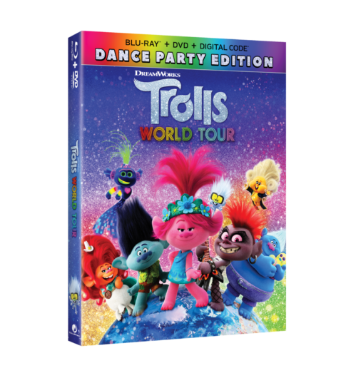 I am so excited to announce that Trolls World Tour arrives on Digital June 23, 2020, and on 4K Ultra HD, Blu-Ray™, and DVD July 7, 2020, from Universal Pictures Home Entertainment. If you have a fan of Trolls in your house as we do, you will love this.